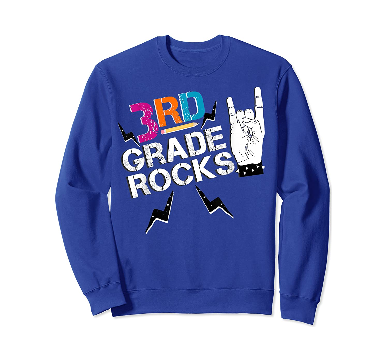 3rd Grade Rocks, 1st Day Of School Shirt Students Teas Crewneck Sweater