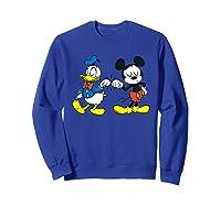 Disney Mickey Mouse And Donald Duck Best Friends T-shirt Sweatshirt Royal Blue