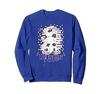 12th Birthday Princess Girl 12 Years Old Cow Lover B Day Shirts Sweatshirt Royal Blue