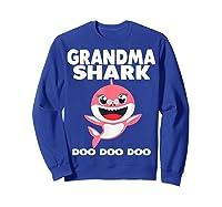 Grandma Shark Doo Doo Shirt For Matching Family Pajamas T-shirt Sweatshirt Royal Blue