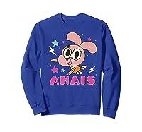 The Amazing World Of Gumball Anais Portrait Shirts Sweatshirt Royal Blue