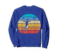 Vintage Basketball Retro Vintage Style Basketball Gift Shirts Sweatshirt Royal Blue