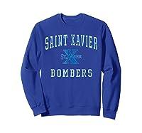 St Xavier High School Bombers C1 Shirts Sweatshirt Royal Blue
