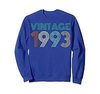 26th Birthday Gift Idea Vintage 1993 T-shirt Distressed Sweatshirt Royal Blue