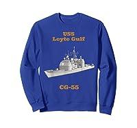Leyte Gulf Cg 55 Navy Sailor Veteran Gift Shirts Sweatshirt Royal Blue