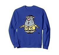 Nature Cat Houston Character T-shirt T-shirt Sweatshirt Royal Blue