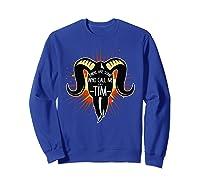 Some Who Call Me Tim Explosion T-shirt Sweatshirt Royal Blue