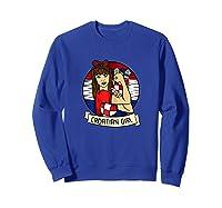 Croatian Girl Croatian Woman Croatia Croatian T-shirt Sweatshirt Royal Blue