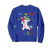 Eletary School Rocks Dabbing Unicorn Back To School Gifts T-shirt Sweatshirt Royal Blue