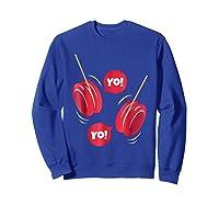 Yo-yo Shirt Yoyo Ball T-shirt Gift Sweatshirt Royal Blue