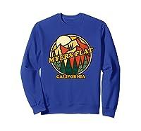 Vintage Myers Flat California Mountain Hiking Souvenir Print T-shirt Sweatshirt Royal Blue