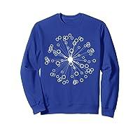 Mod Art Bursting Balls T-shirt Sweatshirt Royal Blue