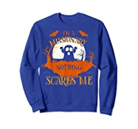 Missionary Nothing Scares Me Funny Halloween T-shirt Sweatshirt Royal Blue