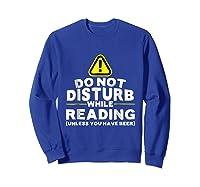 Drinking Beer Lovers Funny Book Reading T-shirt Sweatshirt Royal Blue