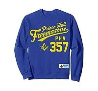 Masonic Prince Hall Pha 357 Sports Style Shirts Sweatshirt Royal Blue