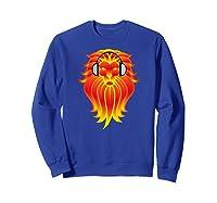 Lion Head Golden Head Phones Shirts Sweatshirt Royal Blue