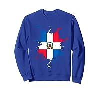 Dominican Republic Flag Inside Dominicana Republica Pride Shirts Sweatshirt Royal Blue