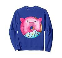 Donut Pig Shirts Sweatshirt Royal Blue