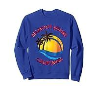 Belmont Shore Beach Surf California Gift Shirts Sweatshirt Royal Blue