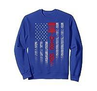 Disc Golf Basket Flag Design Gift For Disc Golfers Shirts Sweatshirt Royal Blue