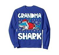 Grandma Shark Santa Christmas Family Matching S Shirts Sweatshirt Royal Blue