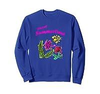Sunshine, Flowers And Honey Bees Shirts Sweatshirt Royal Blue