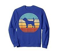Beagle Retro Vintage Style 60s 70s Gifts Dog Lover Shirts Sweatshirt Royal Blue
