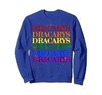 Dracarys Dragon Lovers Rainbow Lgbt Flag Gay Pride Lesbian T-shirt Sweatshirt Royal Blue