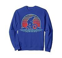Bmx Retro Vintage 80s Style Mountain Bike Rider Gift T-shirt Sweatshirt Royal Blue
