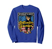 Worlds Best Rottweiler Grandpa Shirts Sweatshirt Royal Blue