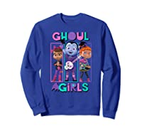 Vampirina Ghoul Girls Trio Shirts Sweatshirt Royal Blue