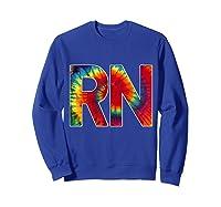 Nurses Groovy Tie Dye Shirts Sweatshirt Royal Blue