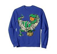 Funny Basketball Player T Rex Dinosaur Halloween Costume T-shirt Sweatshirt Royal Blue