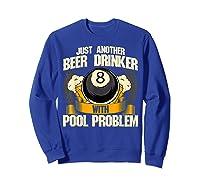 Beer Billiards For Pool Hall Pub With Mugs Suds Shirts Sweatshirt Royal Blue