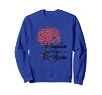Happiness Is Being A Nonna Tshirt Cute Mother\\\'s Day Gifts T-shirt Sweatshirt Royal Blue