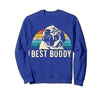 Retro Pug Gift Shirts Sweatshirt Royal Blue