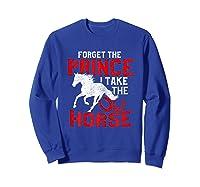 Rider Prefers Horses Shirts Sweatshirt Royal Blue