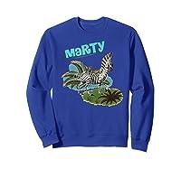 Madagascar Marty Painted Grass Poster Premium T-shirt Sweatshirt Royal Blue