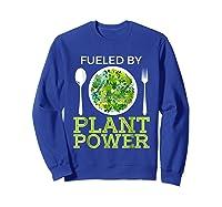 Fueled By Plant Power Vegetarian Shirts Sweatshirt Royal Blue