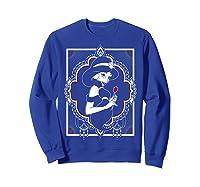 Disney Aladdin Jasmine Ornate Frame Rose Graphic T-shirt Sweatshirt Royal Blue