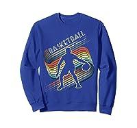 Vintage Retro Basketball Shirt Colorful Tshirt Sweatshirt Royal Blue