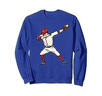 Funny Dabbing Baseball Dab Hip Hop Dance Girls Shirts Sweatshirt Royal Blue