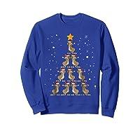 Dabbing Kangaroo Christmas Dab Christmas Tree Shirts Sweatshirt Royal Blue