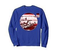 Famous Vintage Japanese Woodblock Art New Year's Sunrise Shirts Sweatshirt Royal Blue