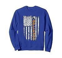 Billiards American Flag T-shirt Billiard Ts Sweatshirt Royal Blue
