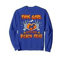 This Girl Loves Her Bichon Frise Dog Halloween Costume Shirts Sweatshirt Royal Blue