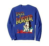Vintage Horror Movie Poster Funny Halloween Shirts Sweatshirt Royal Blue