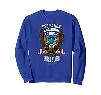Operation Enduring Freedom Veteran Gift Shirts Sweatshirt Royal Blue