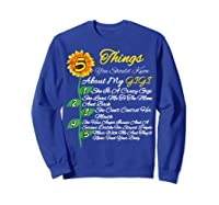 5 Things You Should Know About My Gigi Mother's Day Gift Shirts Sweatshirt Royal Blue