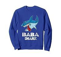 Baba Shark Shirts Sweatshirt Royal Blue